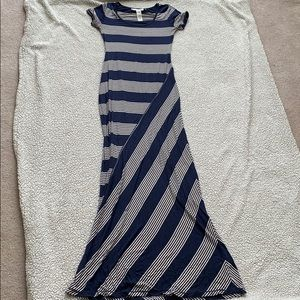 Long Maxi Dress XS Blue/Cream Striped